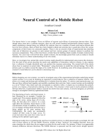 Neural Control of a Mobile Robot