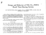 Design and Behavior of TSS/ 8: a PDP-8 Based Time