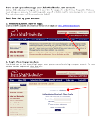How to set up and manage your JohnNealBooks.com account