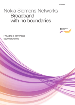 Nokia Siemens Networks Broadband with no boundaries