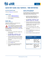 Quick ref guide: self service â   time reporting