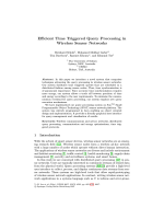 Ecient Time Triggered Query Processing in Wireless Sensor Networks