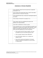 Literature e-Circles Checklist