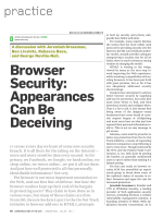 Browser Security: Appearances Can Be Deceiving