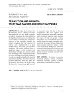 Transition and growth: what was taught and what happened
