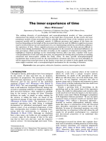 The inner experience of time