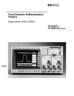 Time Domain Reflectometry Theory