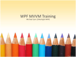 WPF MVVM Training