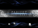 Слайд 1 - Paritet Partners