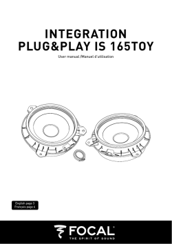 INTEGRATION PLUG&PLAY IS 165TOY