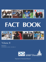 KIMEP UNIVERSITY FACT BOOK , Vol.8