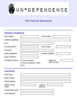 Film Festival Application