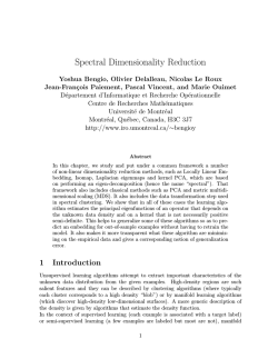 Spectral Dimensionality Reduction