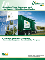 Greening Your Company and its Supply – Distribution Chains