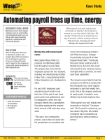 Automating payroll frees up time, energy