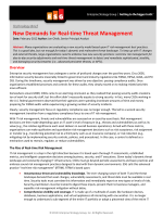 New Demands for Real-time Threat Management