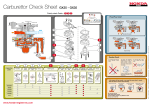 Carburettor Check Sheet