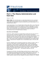 Part 1: The Obama Administration and East Asia