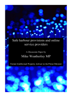Safe harbour provisions and online service providers