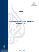 Avoiding Chaos Post-Liberation of Idlib City