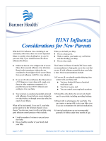 H1N1 Influenza Considerations for New Parents