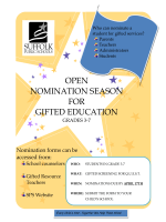 Open nomination season for gifted education