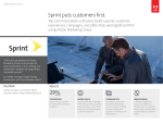 Sprint puts customers first.