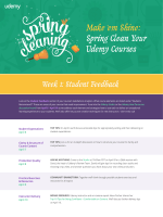Make 'em Shine: Spring Clean Your Udemy Courses