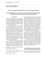 The pre-hospital management of acute heart attacks